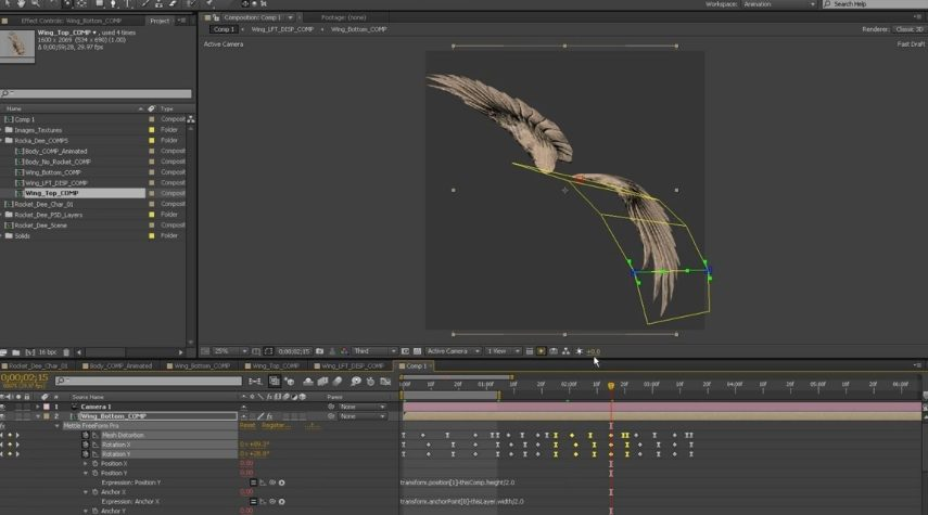 Animated a Wings in After Effect
