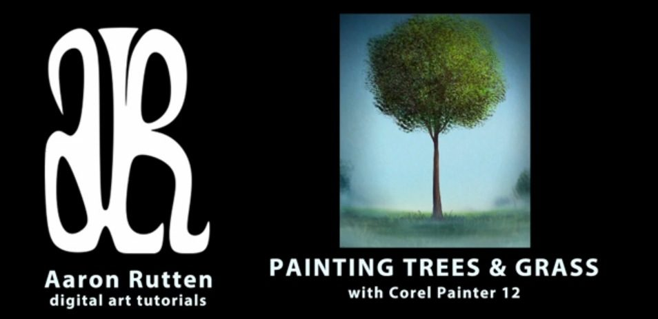 painting trees in Corel Painter