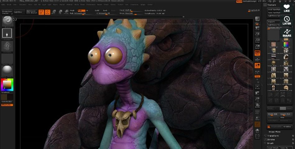 zbrush Polypainting