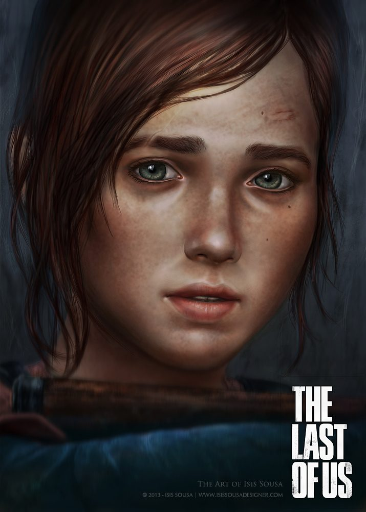 Ellie - the last of us-fanart-by isis sousa-w