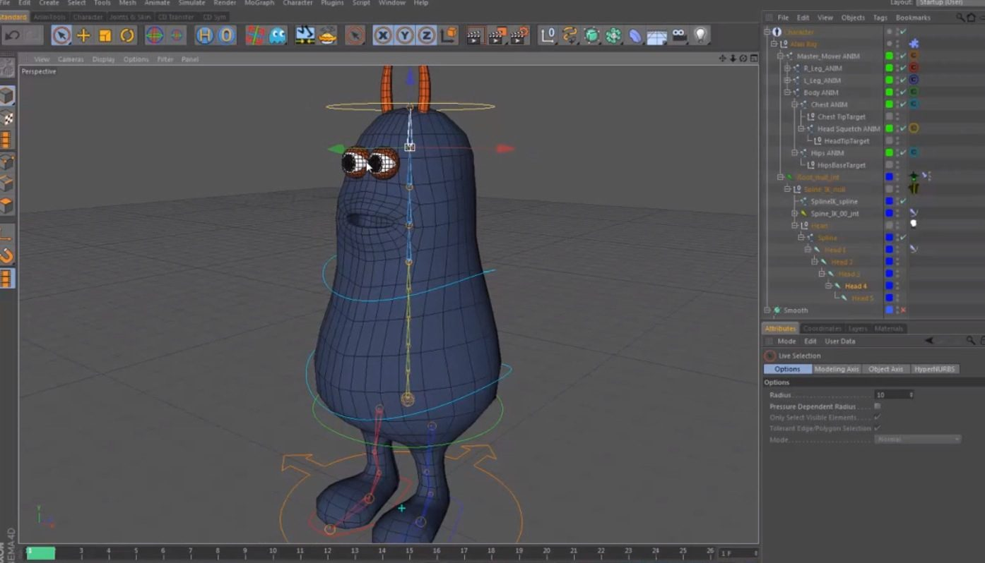 Character Rigging & Animation in Cinema 4D