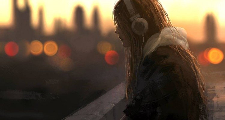 Jonas De Ro : girls with headphone