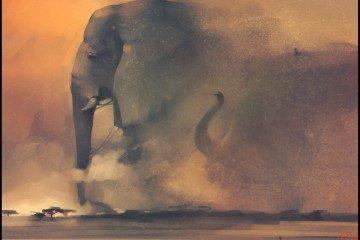 Александра Хитрова : elephant riders