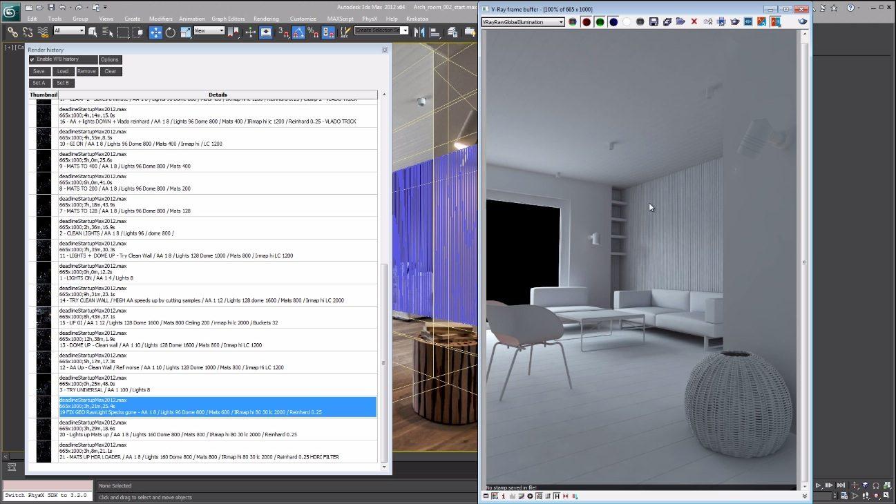 Arch Vis renders in vray 2.4