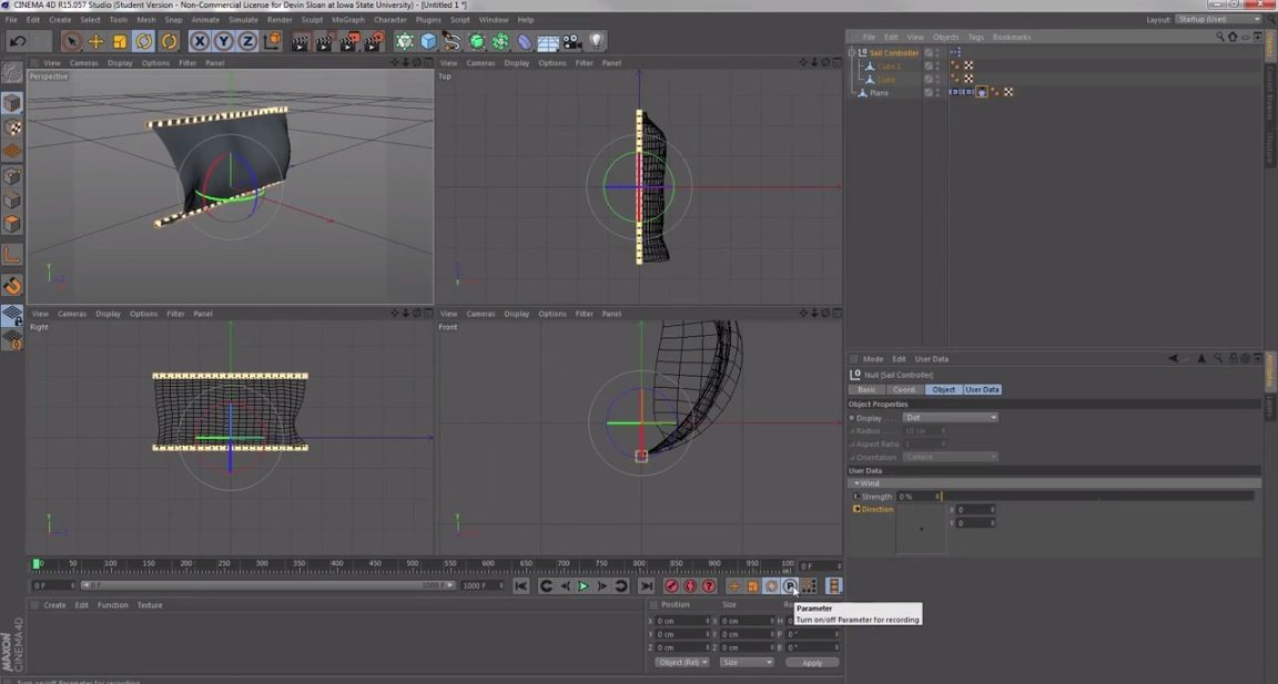 Cloth Dynamics with XPresso
