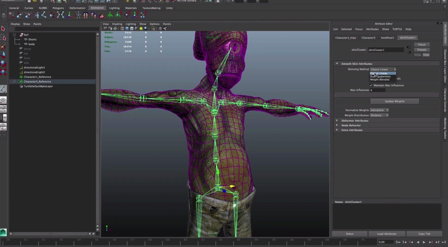 Maya LT for Unity Developers : Skeleton, Texture Baking and