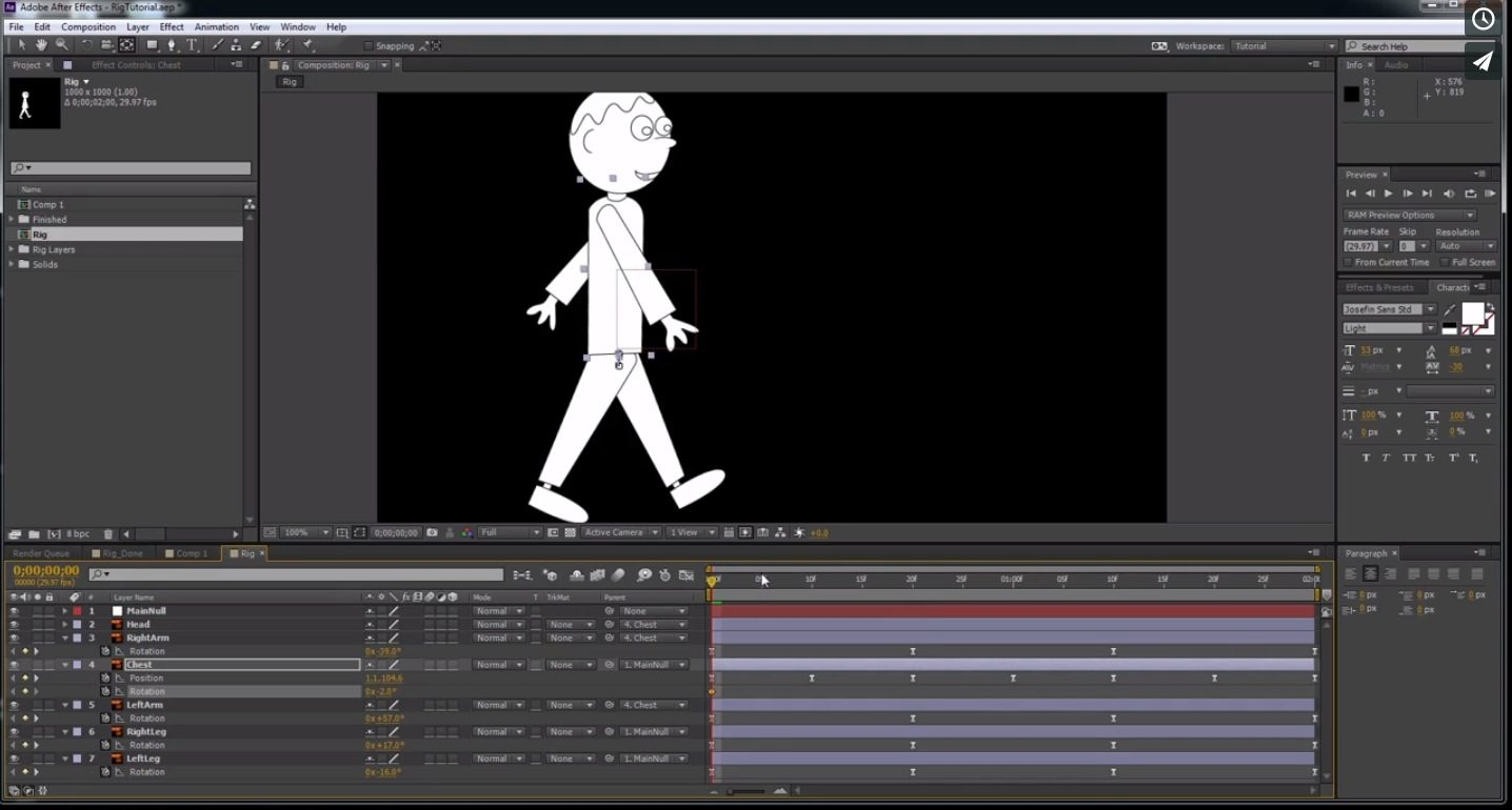 rigging After Effects