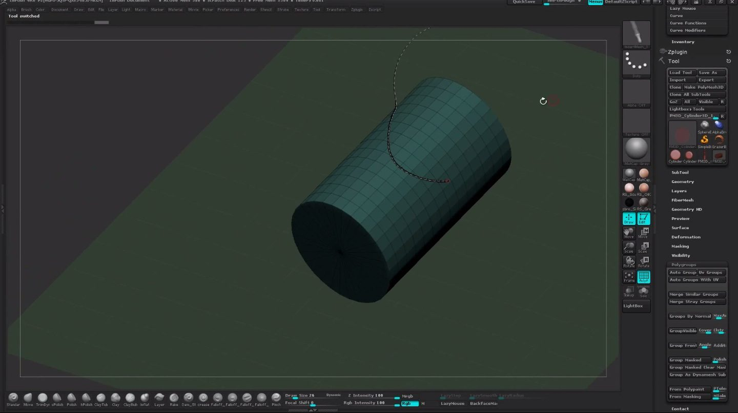 Insert Mesh Curve Brushes in ZBrush 4R6