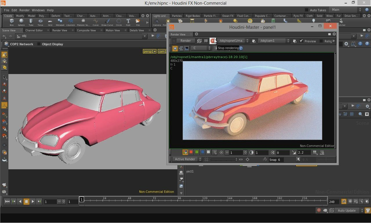 Video thumbnail for vimeo video IBL rendering in Houdini Tutorial