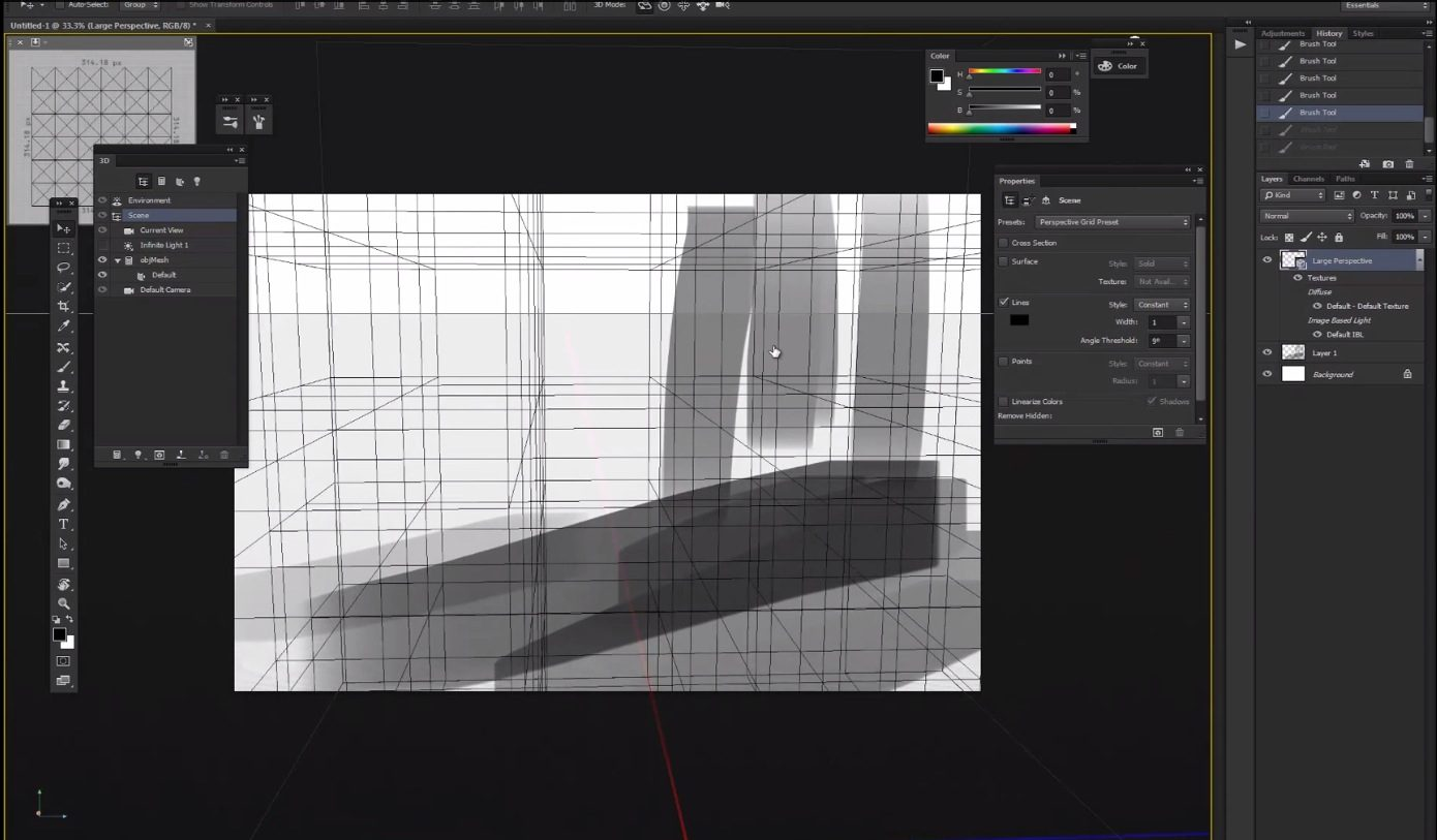 Perspective Grid Photoshop