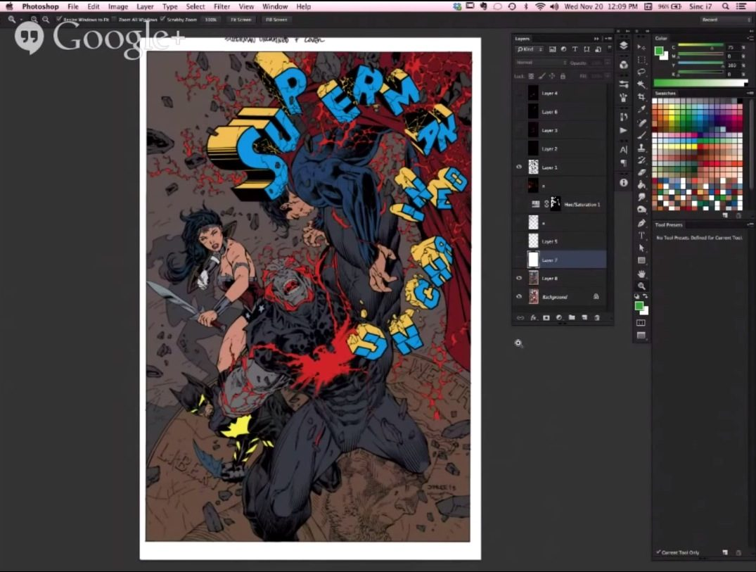 How to Color Comic Book Art