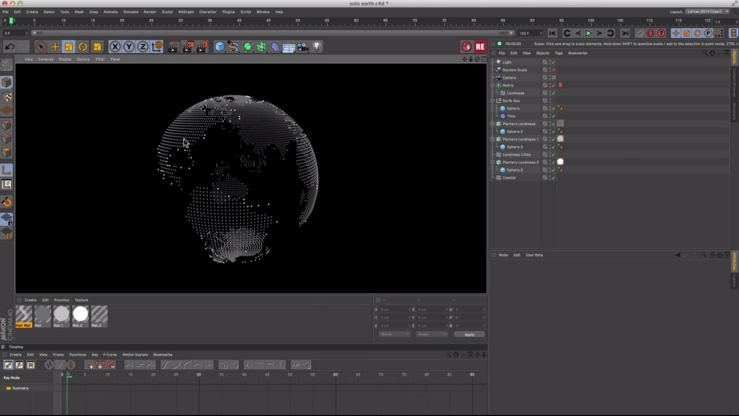 Cinema 4D : Creating a Planetary Grid Sphere