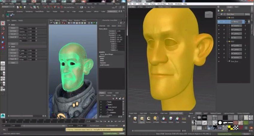Autodesk Mudbox and Maya