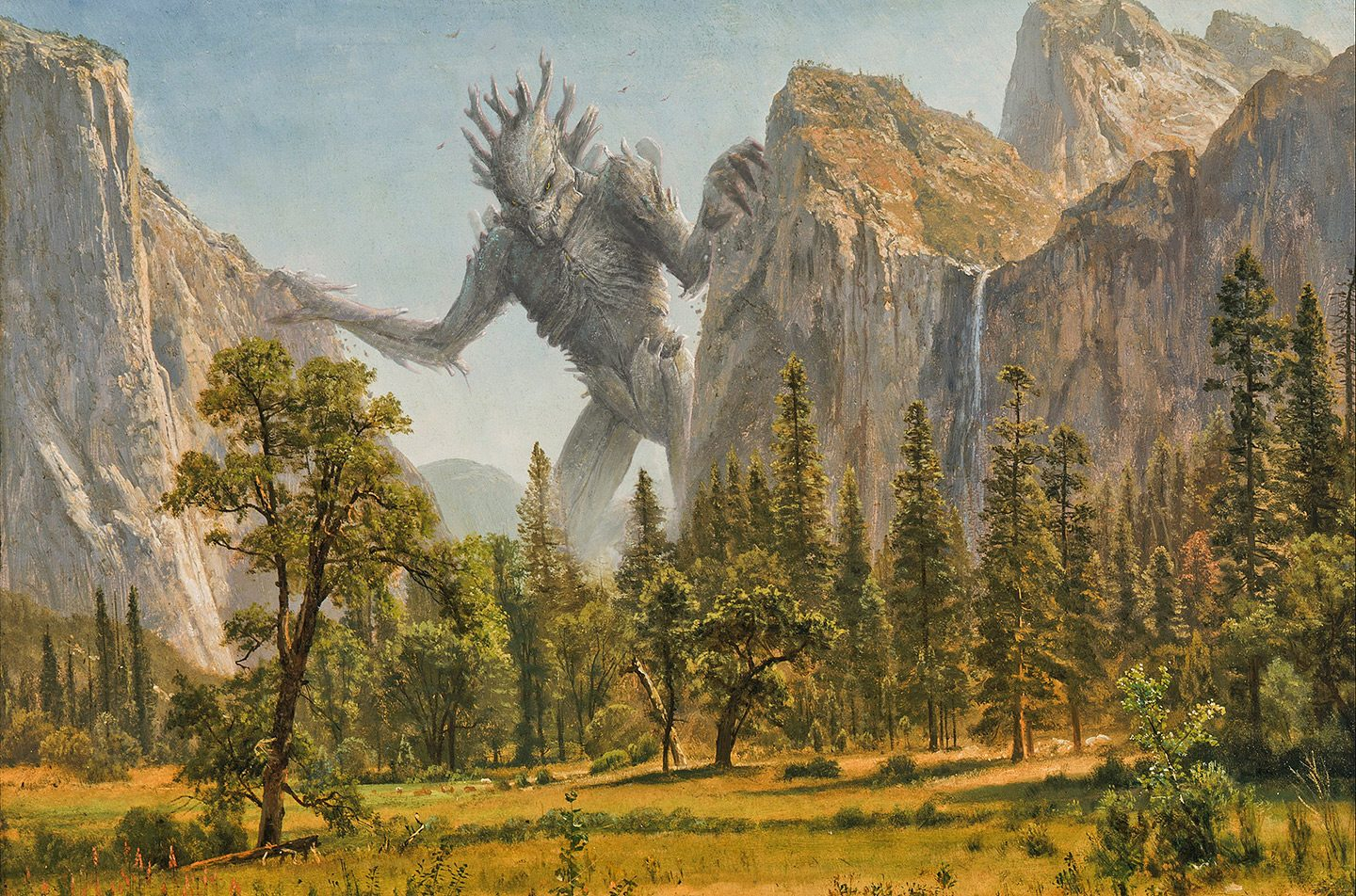 Fantasio-and-Albert_Bierstadt_-_Bridal_Veil_Falls,_Yosemite_Valley,_California_-_Kaiju_Arthistory-Project-small