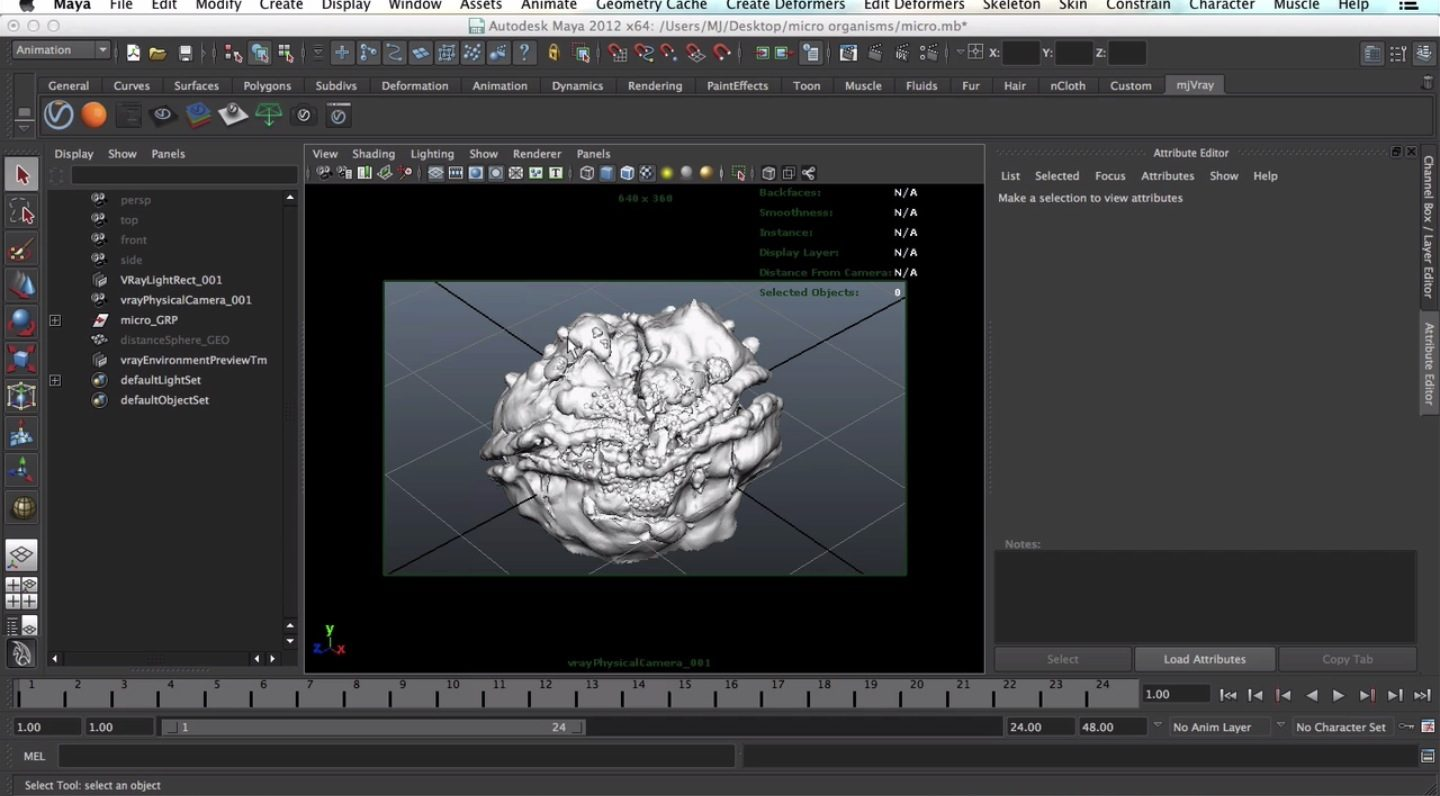 Microscopic Shader with VRay for Maya