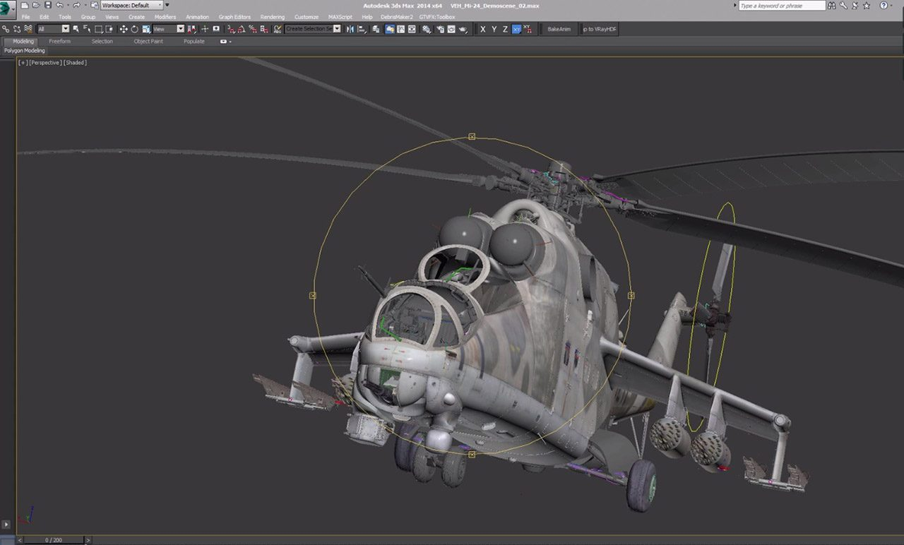 Modeling Mi-24 helicopter