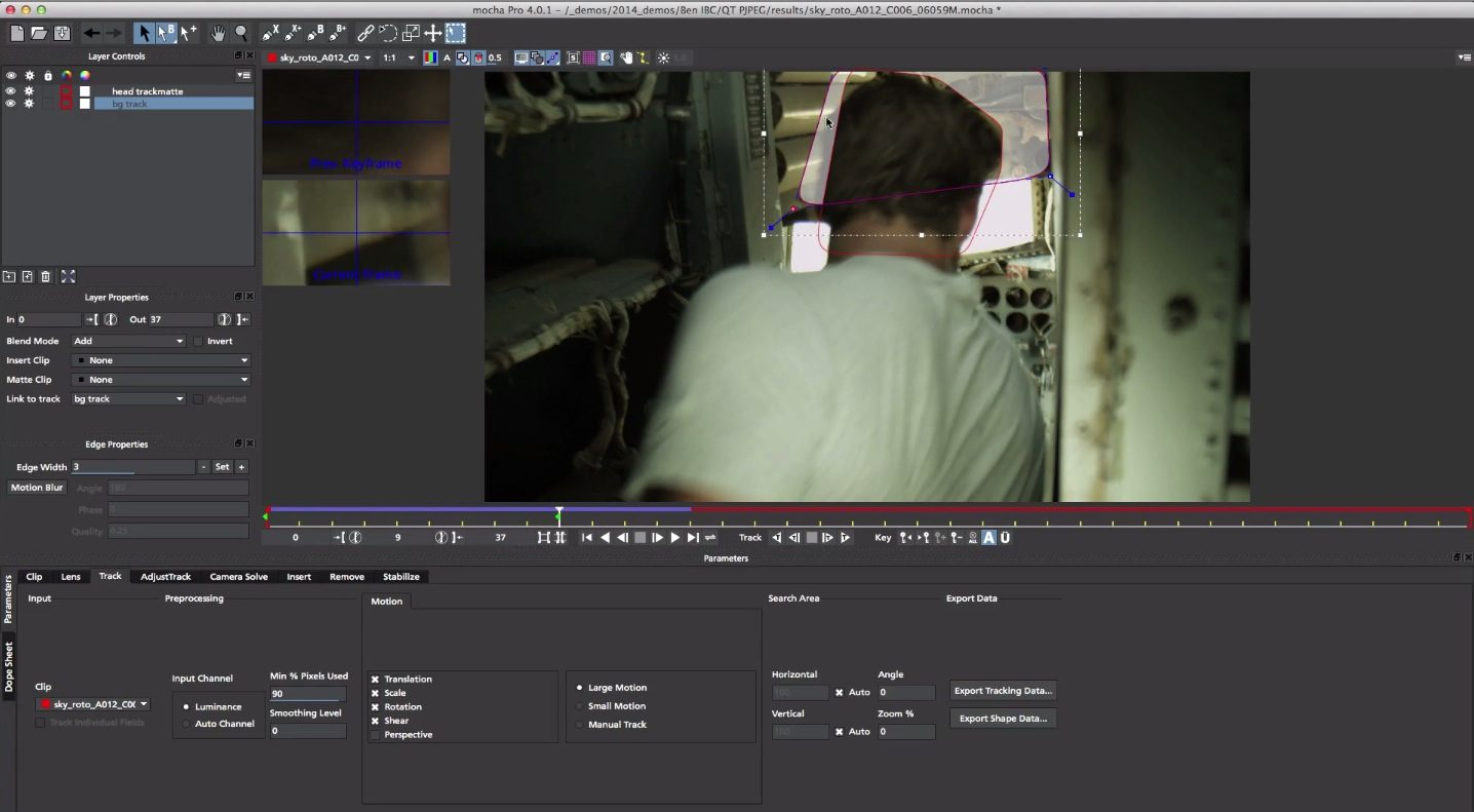 New Mocha Pro 4 Planar Tracking