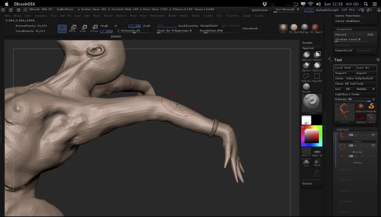 Posing Character in ZBrush