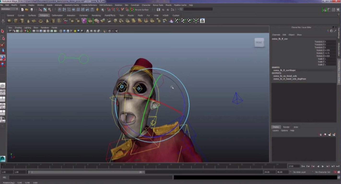 Free Zombie Animation Rig