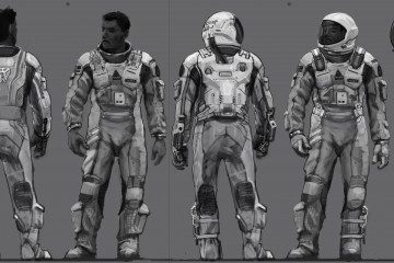 Interstellar Spacesuit Concept Art