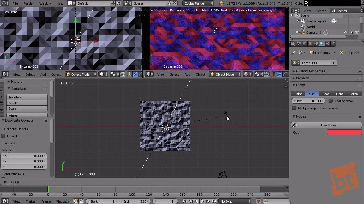 abstract geometry in Blender