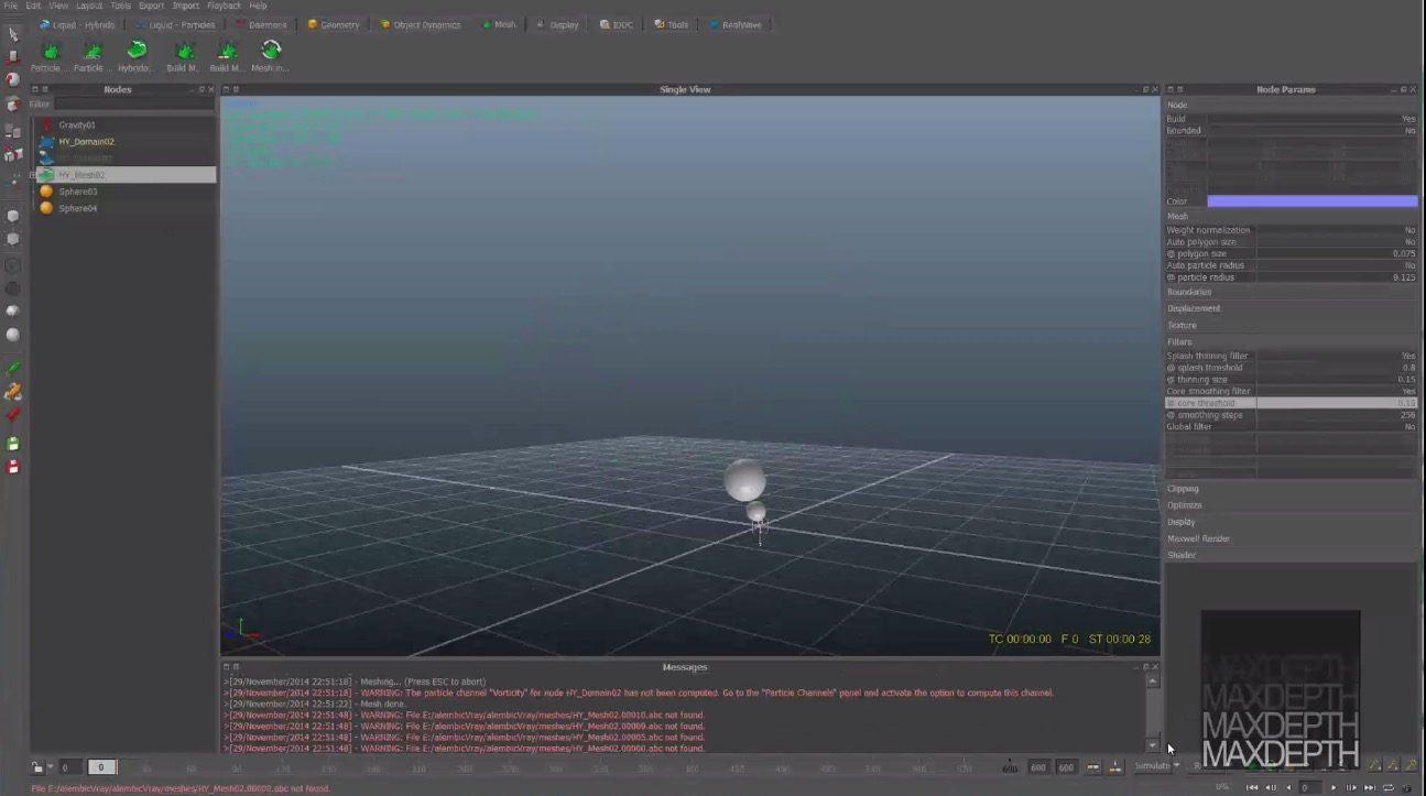 alembic Realflow 2014 to Maya