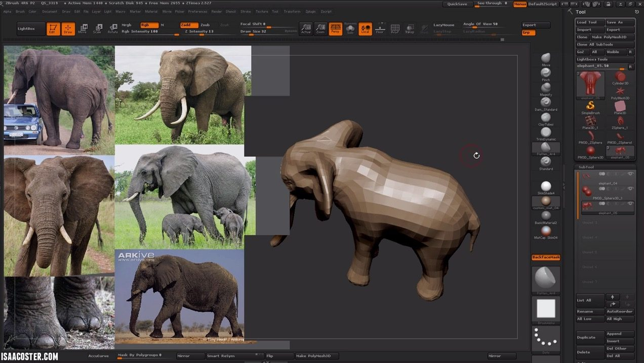 Sculpting An Elephant in Zbrush