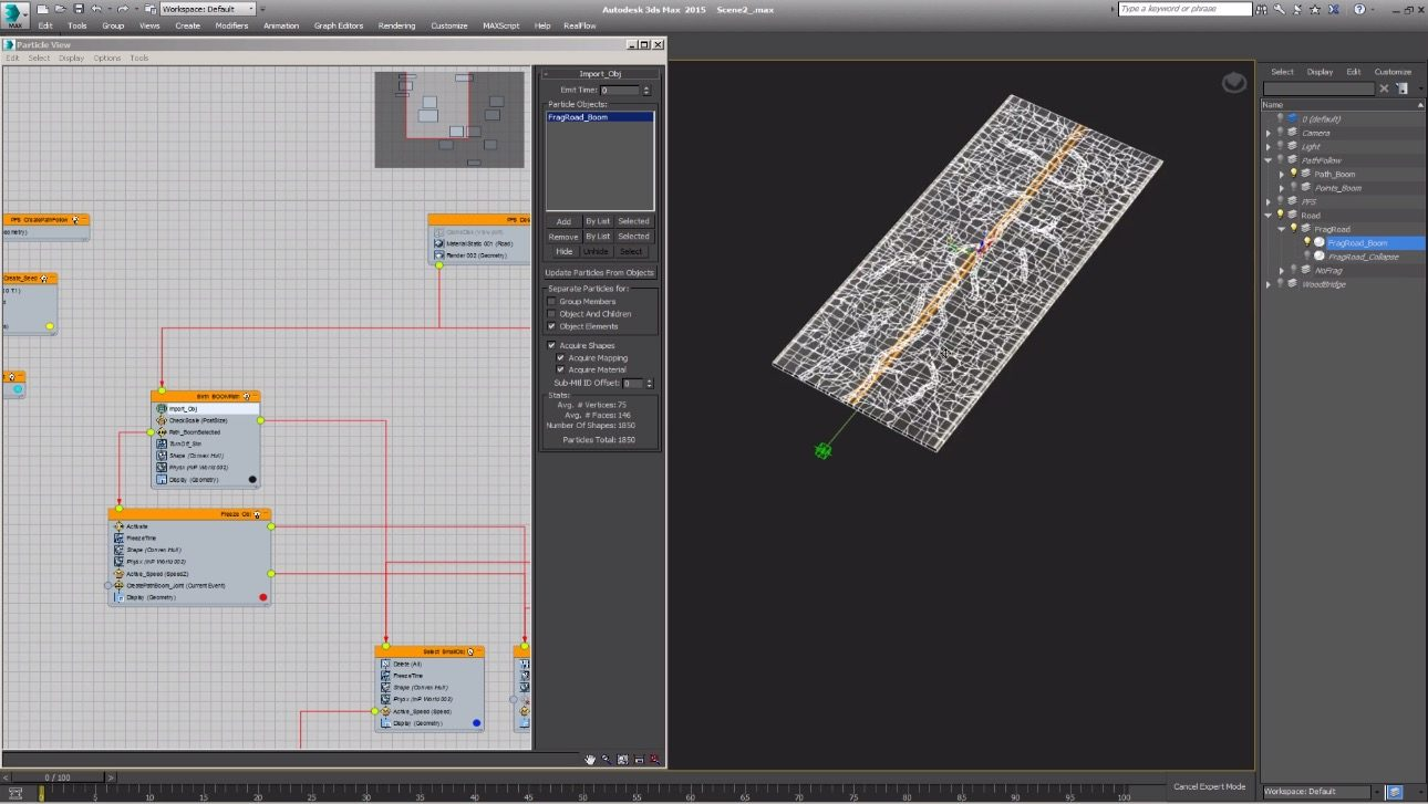 road collapse in 3DS Max