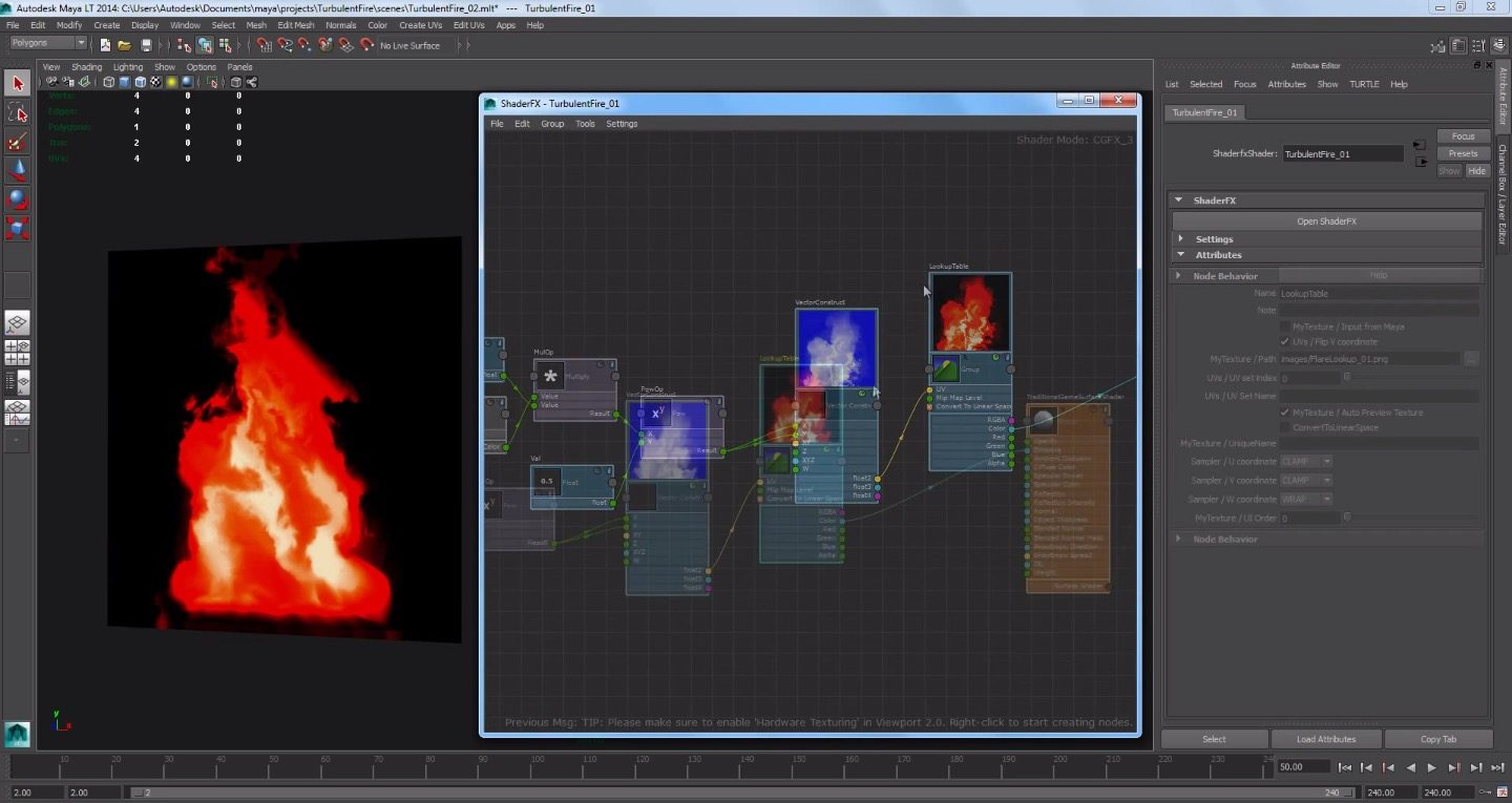 Creating a Fire Effect in Maya LT with ShaderFX