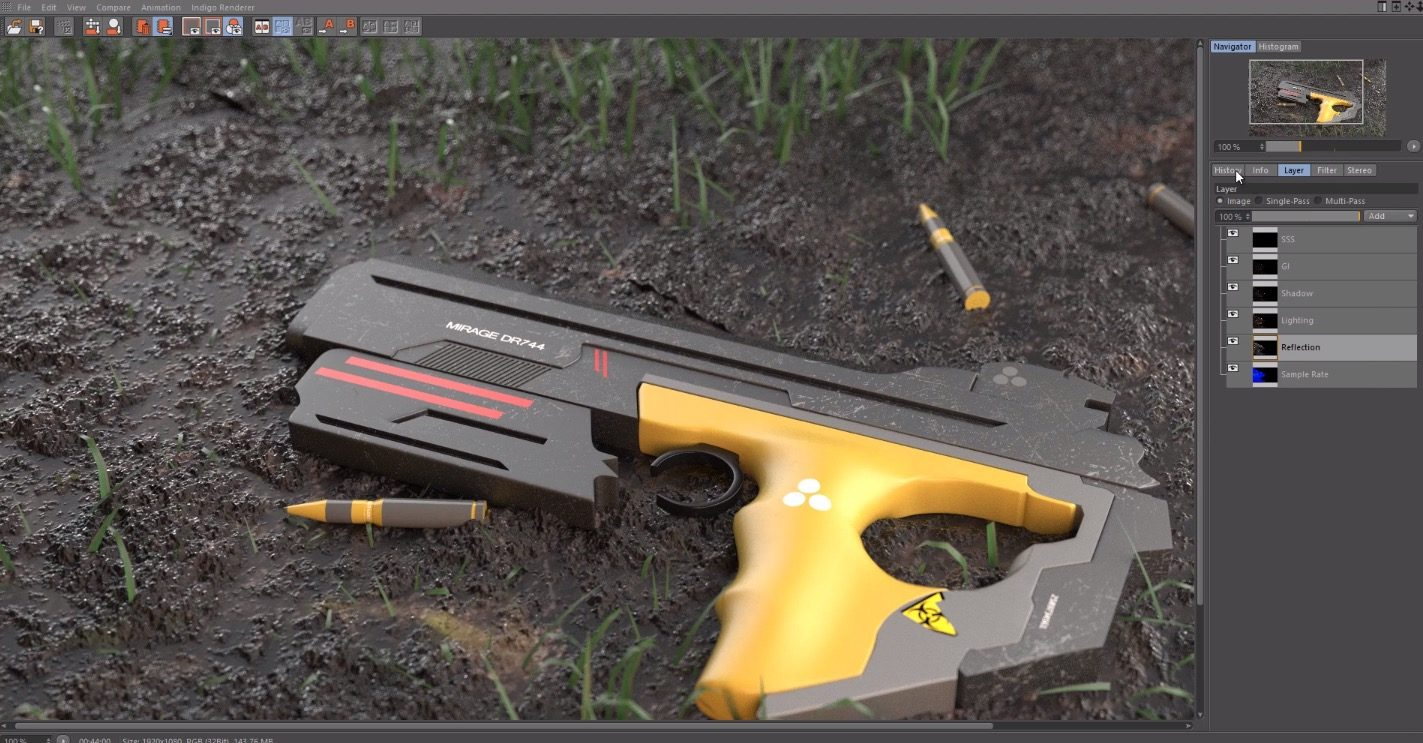 Making a SciFi Gun in Cinema 4D and Vray