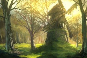 Denis Loebner - Forgotten windmill