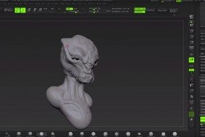 Sculpting an Alien with Justin Goby Fields