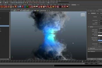 Create a Fluid Tornado with Maya