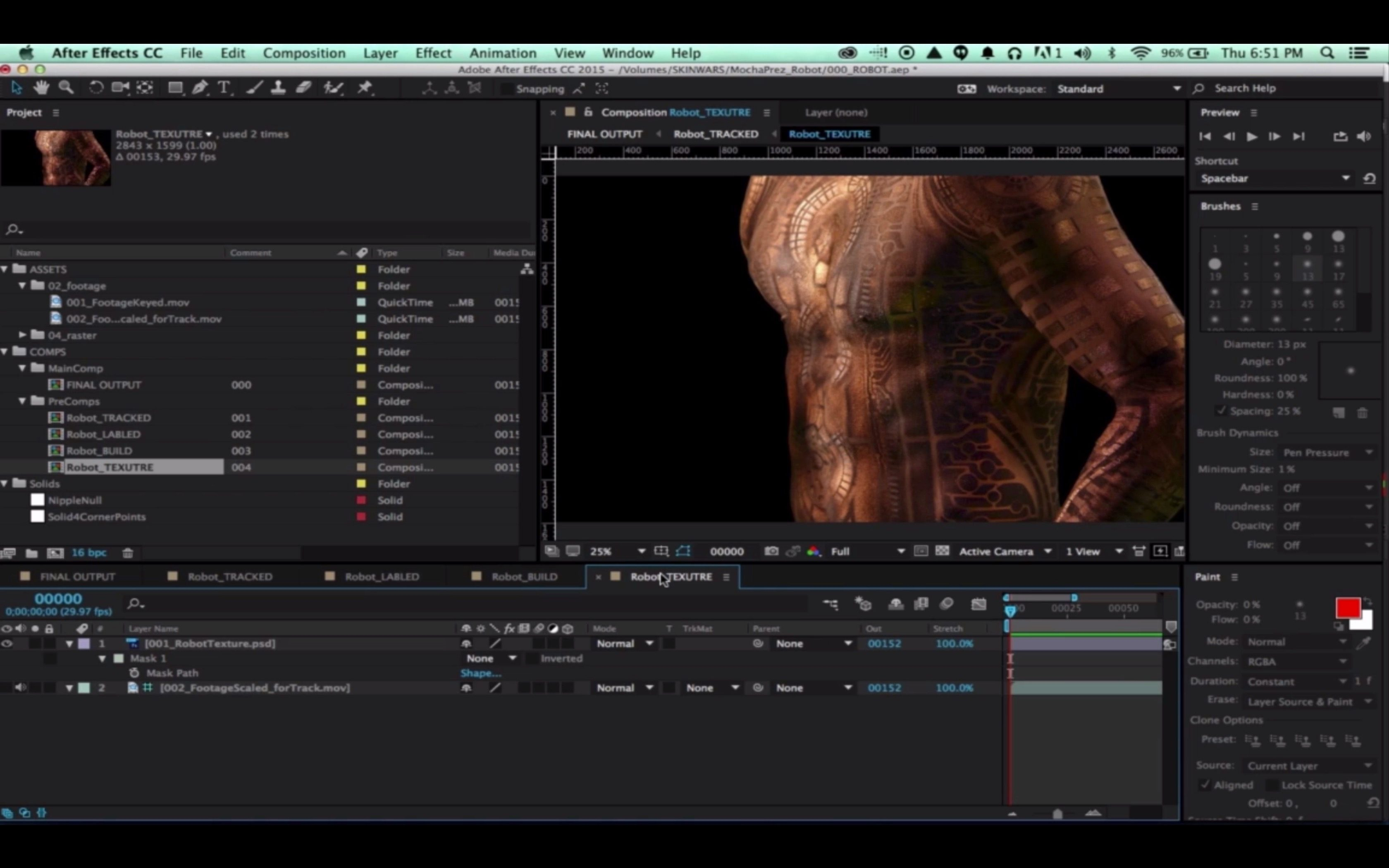 Mocha and After Effects Puppet Tool