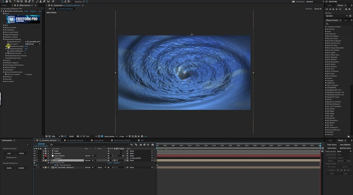 Creating a Whirlpool in after effects
