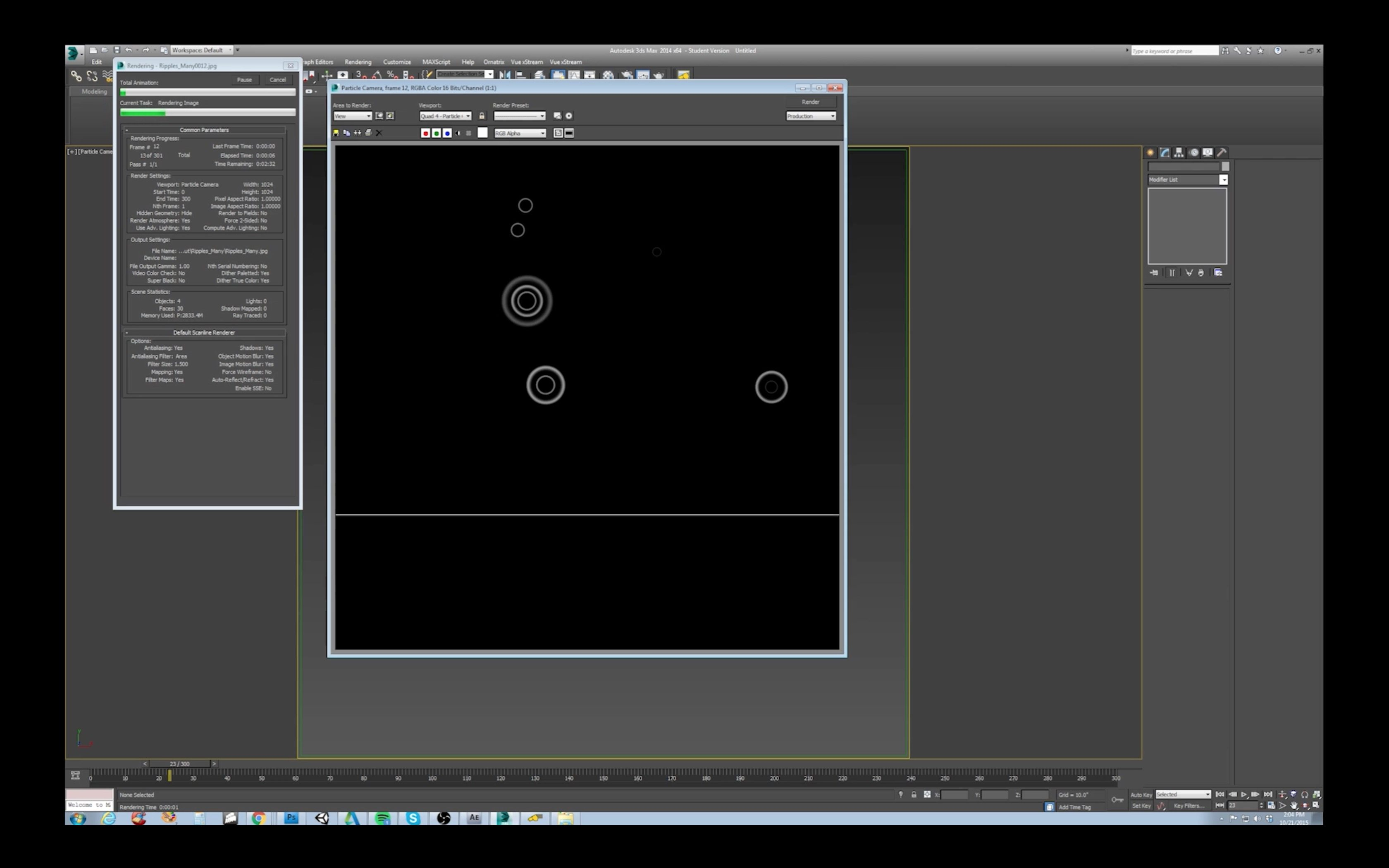 Animated Ripple Effect in 3D Studio Max 3