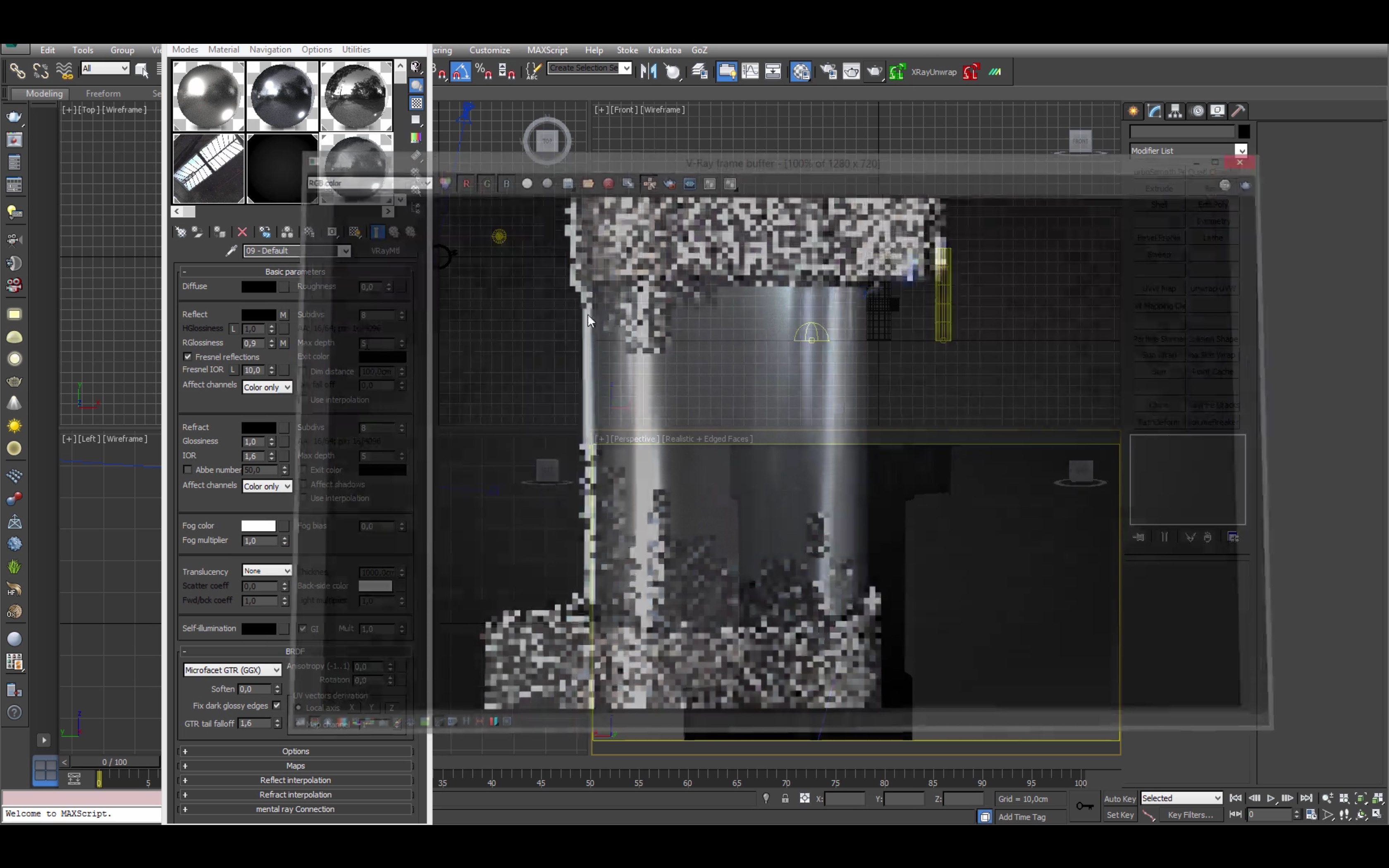 Create Brushed Metal with Vray in 3DS Max