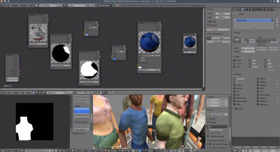 Crowd Simulation in Blender