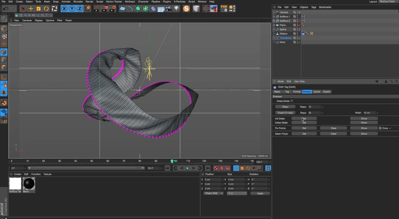Looping Cloth Dynamics in Cinema 4D