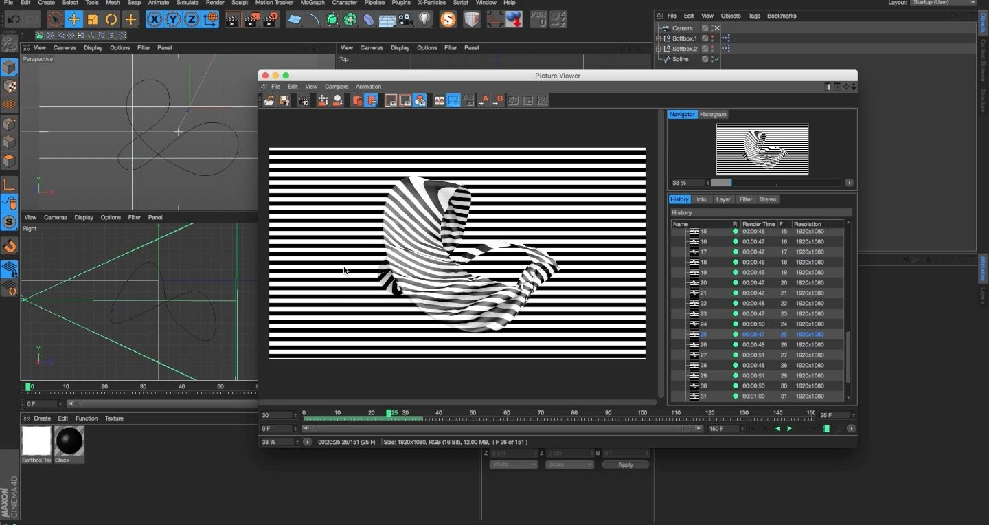 How to Loop Cloth Dynamics in Cinema 4D