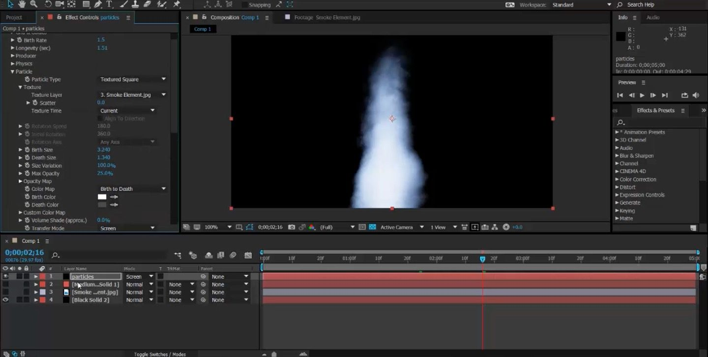 Introduction to Particles in After Effects