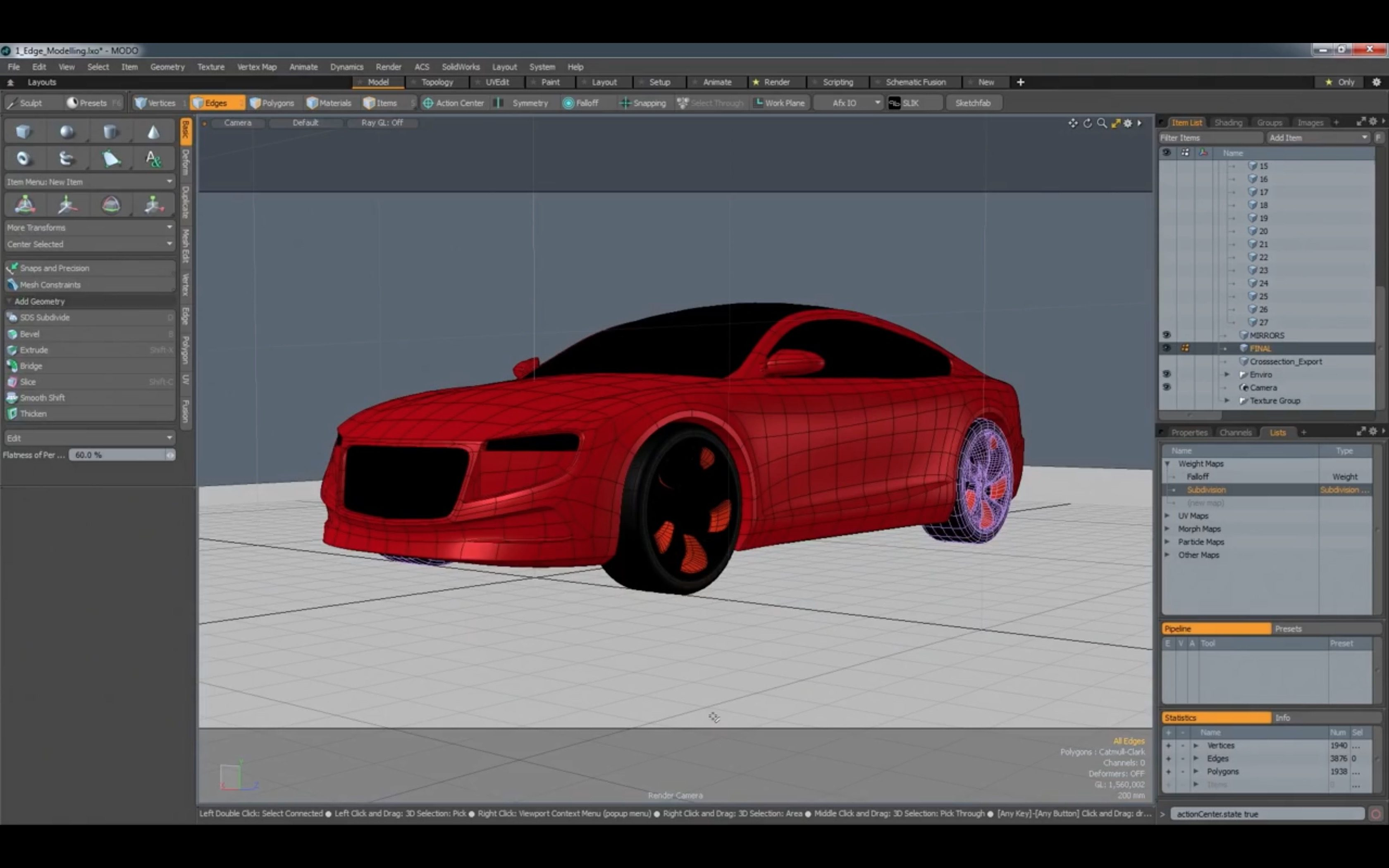 Modo Workflows - Automotive Concept Modeling