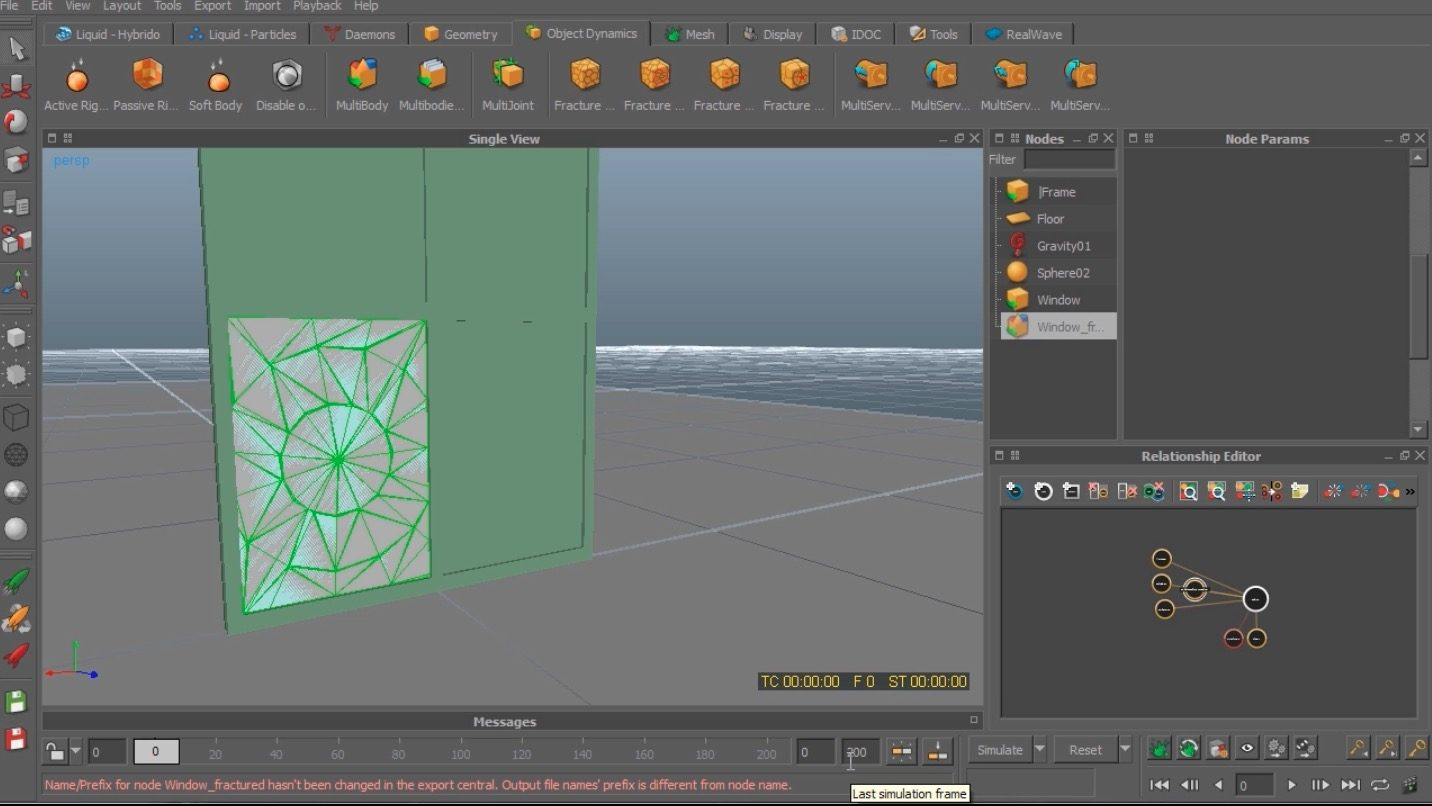 Smash A Window In Realflow