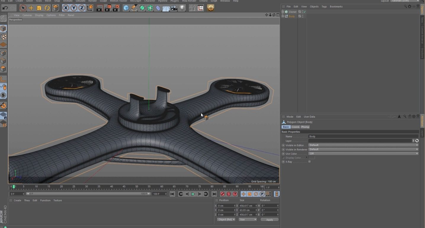 Making a Drone in Cinema 4D