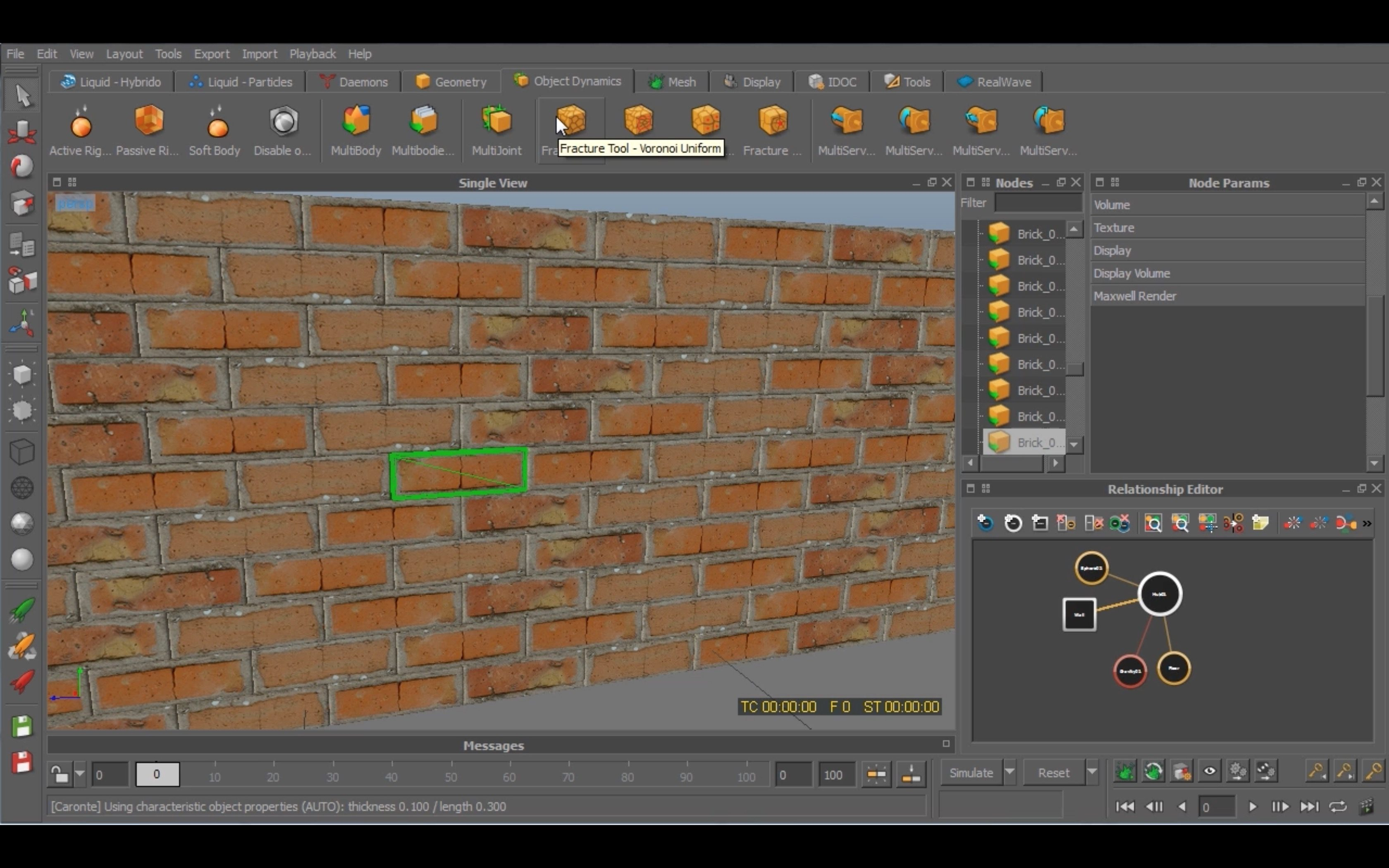 Smash A Brick Wall In Realflow