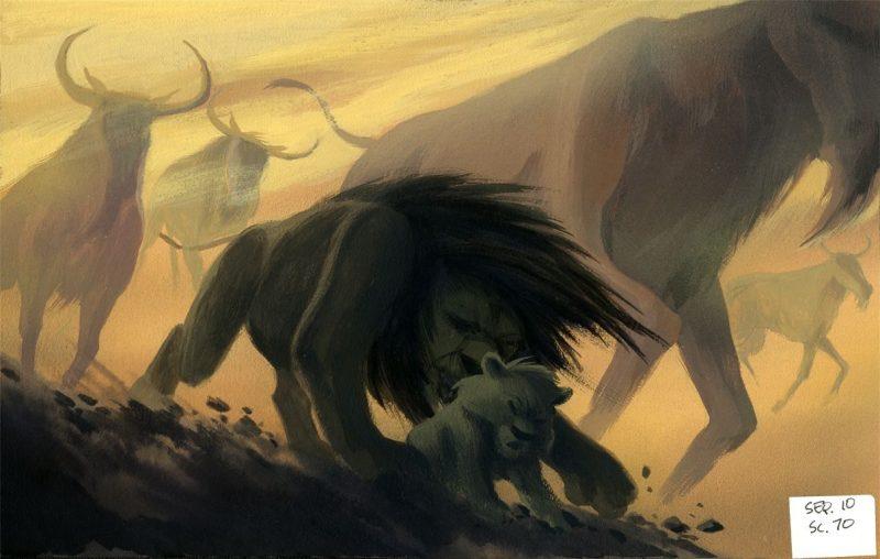 The Lion King 70 Original Concept Art Collection