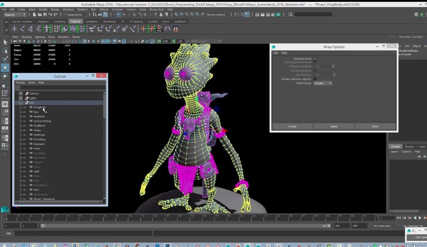 Posing A Character With Maya And Transpose Master