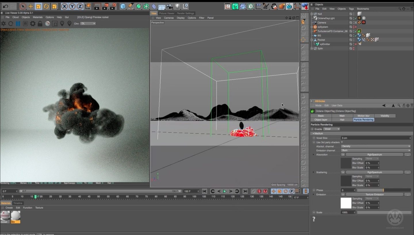 Volumetric Rendering in Octane Cinema 4D