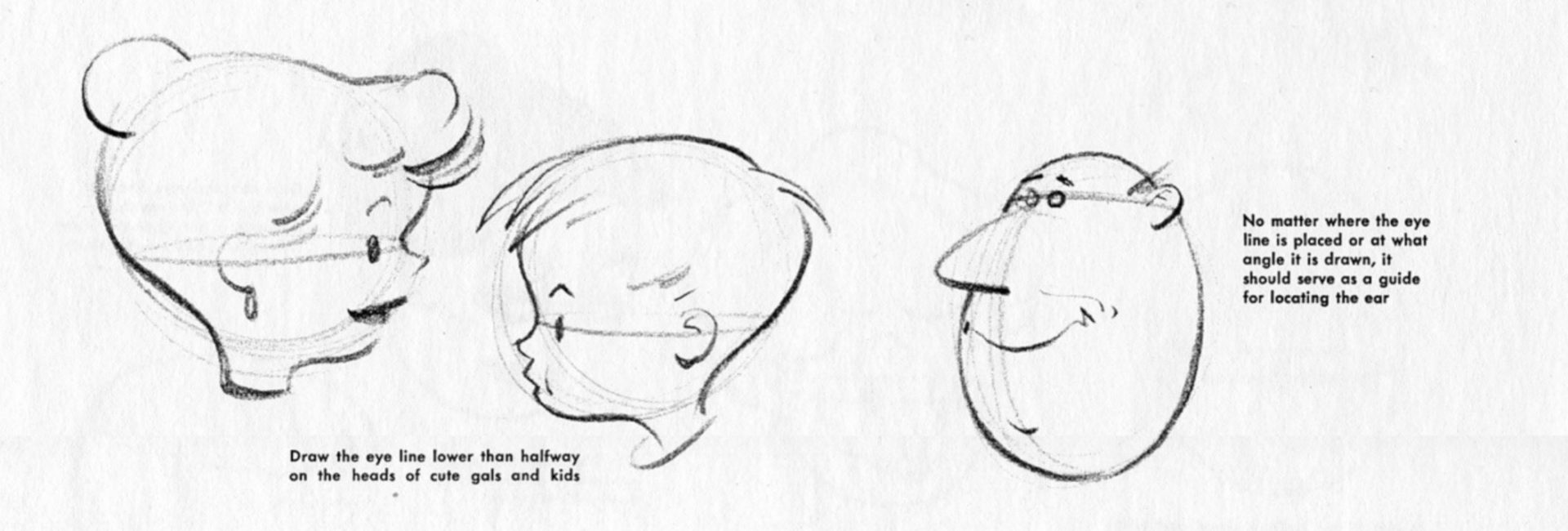 how to draw a head with hair