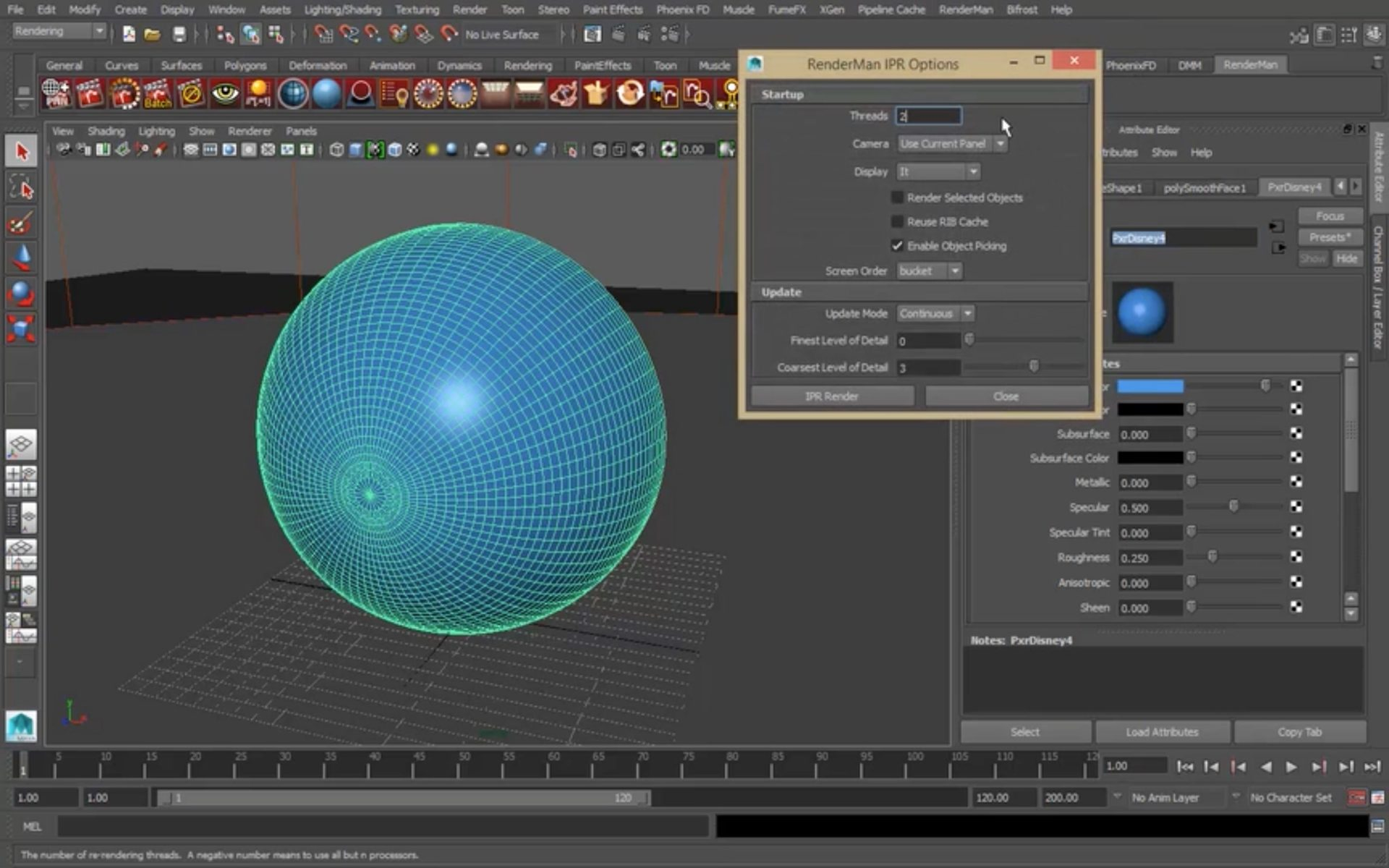 RenderMan Tutorial: Pixar Disney Shader
